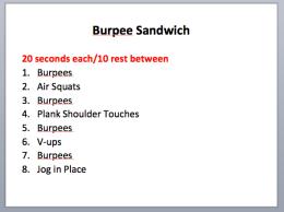 Burpee Sandwich
