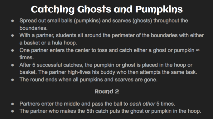 Catching Ghost and Pumkins Rules