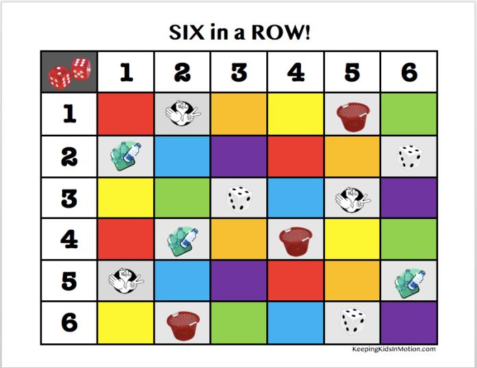 6 in a row Board